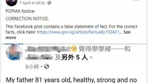 Menteri Kesihatan arah pembetulan ke atas FB Goh Meng Seng, laman S'pore Uncensored