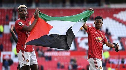 Pemain Man U pula tunjuk sokong rakyat Palestin