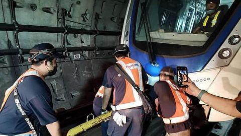 2 tren LRT terbabit dalam nahas jaya dibawa keluar