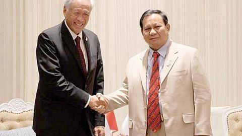 S'pura, Indonesia tekan hubungan pertahanan kukuh, berpanjangan