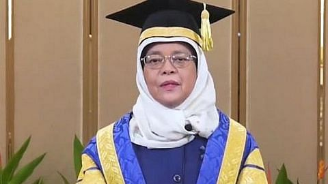 Presiden Halimah: Graduan perlu hadapi cabaran dengan positif, tabah