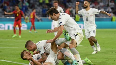 Aksi hebat Italy tundukkan Belgium, temu Sepanyol di separuh akhir