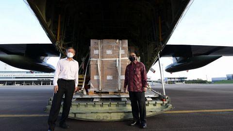 SG hulur bekalan perubatan bantu Indo lawan Covid-19