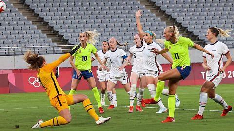Bola sepak wanita: Sweden tundukkan Amerika 3-0