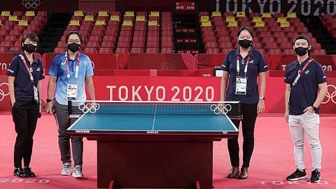 Olimpik: Empat dari Sg pastikan pertandingan tenis meja berjalan lancar