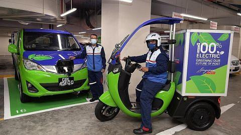 SingPost akan guna kenderaan elektrik untuk hantar surat jelang 2026