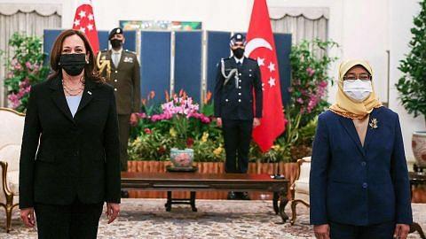 Presiden Halimah, Naib Presiden AS Harris sahkan hubungan kukuh dua negara