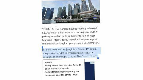 Alat terjemahan BH raih perak di Anugerah Media Digital Asia