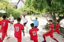 Skuad bola sepak belia tidak sabar lawan pasukan Mauritius