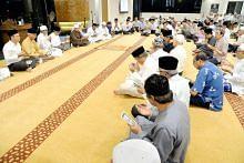 Majlis tahlil buat Othman Wok di Masjid Yusof Ishak