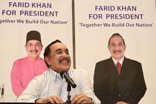 PILIHAN RAYA PRESIDEN: INDIVIDU YANG INGIN TANDING Farid mahu guna pengalaman untuk 'berkhidmat pada negara, warga'