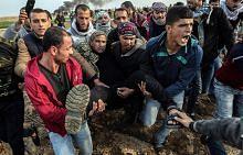 Puluhan cedera di Gaza, Tebing Barat dalam protes