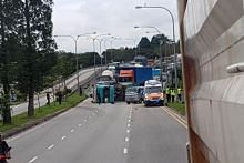 Tipper truck driver skids in Turf Club Avenue, spilling soil across 3 lanes