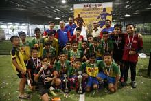 Tamil Murasu's futsal tournament 2018 at FutsalArena@Yishun