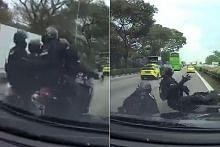 Anggota Pasukan Kerahan Pantas terlibat nahas jalan raya