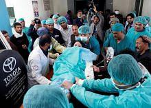 PENGGANASAN DI KABUL, AFGHANISTAN Jumlah kematian meningkat kepada 57 orang