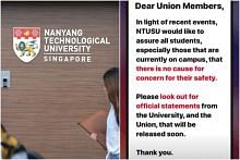 Police investigating NTU student for false information over alleged assault on campus