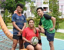 Cinta ragbi tiga beradik