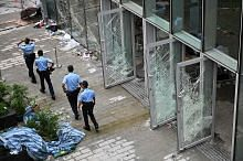 BANTAHAN DI HONGKONG Hongkong tenang berselubung tegang