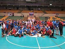 Pasukan floorball Singapura azam masuk final