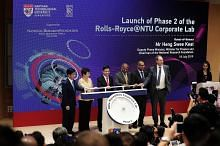 Rolls-Royce, NTU labur $88j bagi fasa ke-2 Makmal Korporat