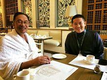 Amrin temu Anwar di Makkah