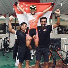 Pelumba basikal S'pura pertama julang emas di kejohanan Asia