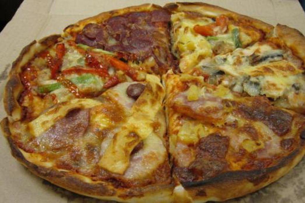 JIMAT: Membeli enam potongan pizza pelbagai perisa boleh menjimatkan pelanggan sebanyak $4.10.