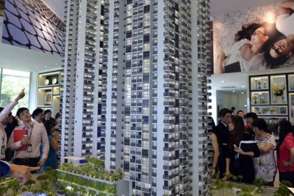 PASARAN LEMBAP: Kondominium Sky Vue di Bishan merupakan projek yang dilancarkan CapitaLand pada September tahun lalu. - Foto fail