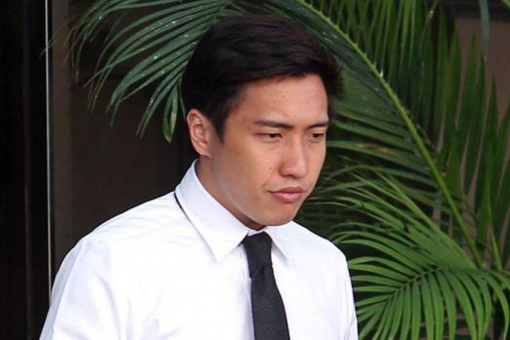 BERSALAH: Leon Liang Yiwei, mengaku bersalah atas salah satu daripada dua tuduhan, meletakkan telefon bimbitnya dalam bakul membeli-belah untuk merakam video dua wanita di Market Place di pusat membeli-belah Paragon pada 12 April lalu. - Foto THE STRAITS TIMES