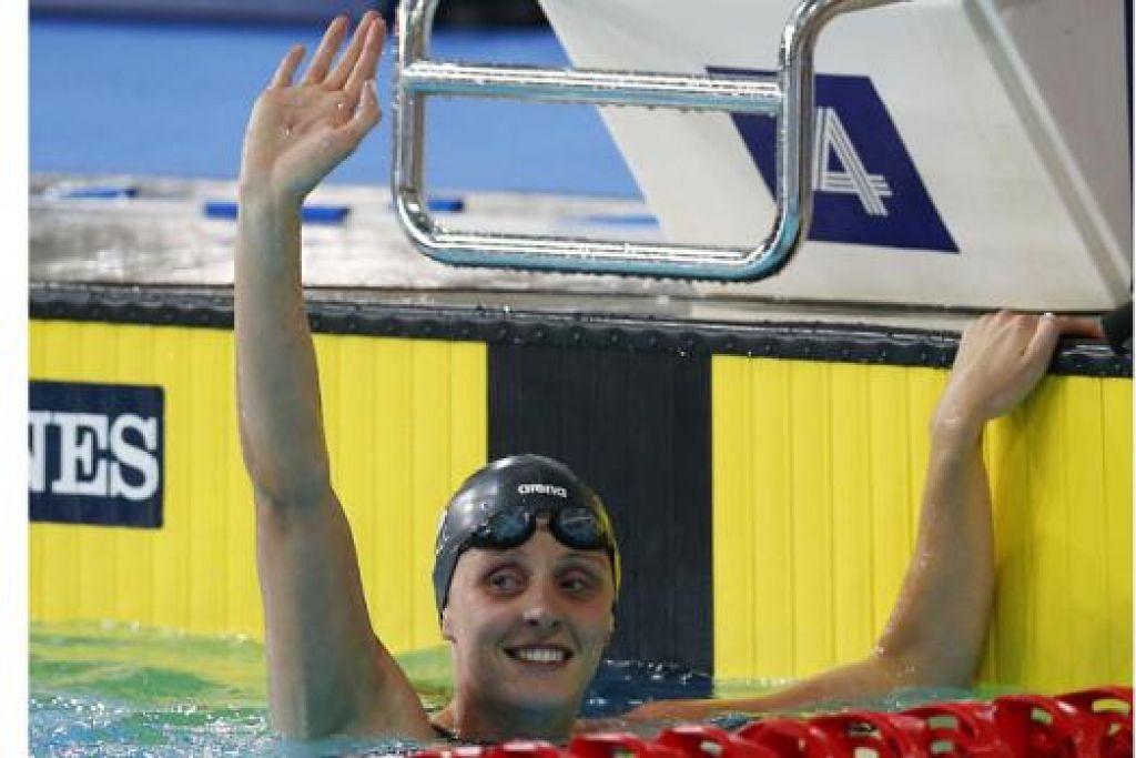 AKSI DI SINGAPURA: Perenang veteran England, Francesca Halsall, antara yang akan beraksi dalam kejohanan renang Prudential Singapore Swim Stars dari 5 hingga 7 September ini. - Foto REUTERS