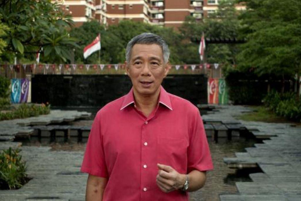 ENCIK LEE HSIEN LOONG: Singapura berada dalam kedudukan yang baik untuk berkembang maju dalam dunia yang terus berubah. - Foto MCI