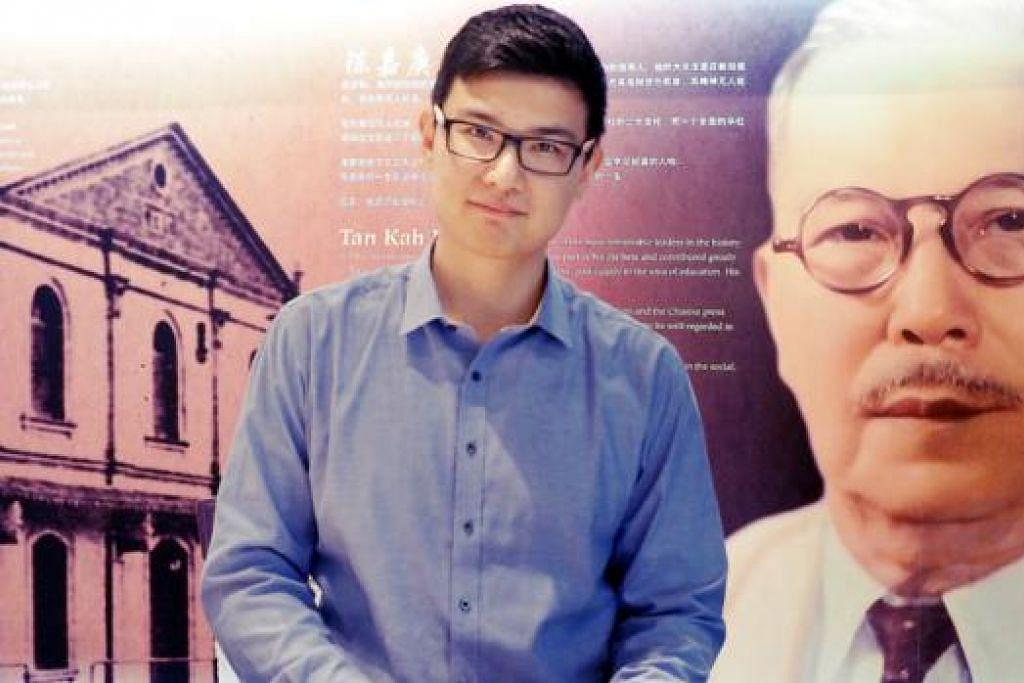 DAPAT BIASISWA POSSISWAZAH TAN KAH KEE: Encik Suen Johan Mohd Zain akan menjalankan kajian bagi tesisnya mengenai penuaan dan pekerjaan di Singapura. - Foto JOHARI RAHMAT