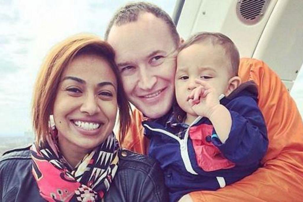 BERSAMA ORANG TERSAYANG: Ning Baizura bersama suami, Omar Sharif Christopher Layton Dalton, dan anak lelakinya, Ryan Sky Dalton. - Foto LAMAN FACEBOOK NING BAIZURA