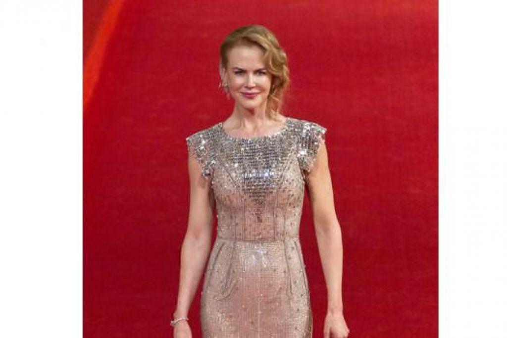 AMALAN SIHAT: Nicole Kidman mampu mengekalkan bentuk tubuh yang hebat hasil daripada amalan gaya hidup sihat termasuk bersenam secara berkeluarga. - Foto REUTERS