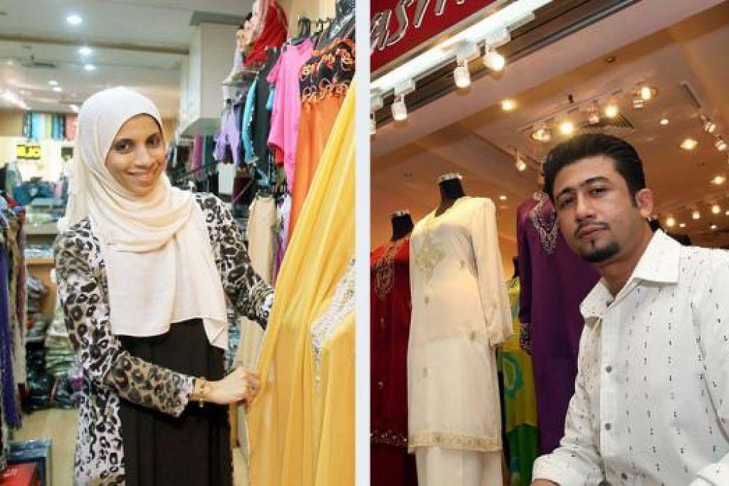 PERNIAGAAN RANCAK: Cik Lubna dan Encik Lutfie memang mengharapkan kedatangan Ramadan dan Syawal kerana penjualan semasa tempoh itu meningkat dengan banyaknya. - Foto fail