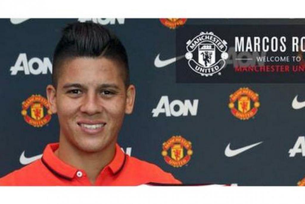 MARCOS ROJO: Pemain bek antarabangsa Argentina yang baru dibeli daripada Sporting Lisbon ini diharap dapat mengukuhkan benteng Manchester United yang rapuh. - Foto MANCHESTER UNITED