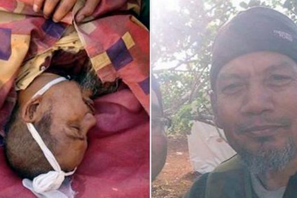 MAHU PERANGI TENTERA IRAQ: Gambar menunjukkan Mat Soh, yang dipercayai sebagai Zainan Harith (kanan), maut di Syria (gambar jenazah di kiri) setelah dibedil kereta kebal tentera Bashar al-Assad. - Foto FACEBOOK.COM