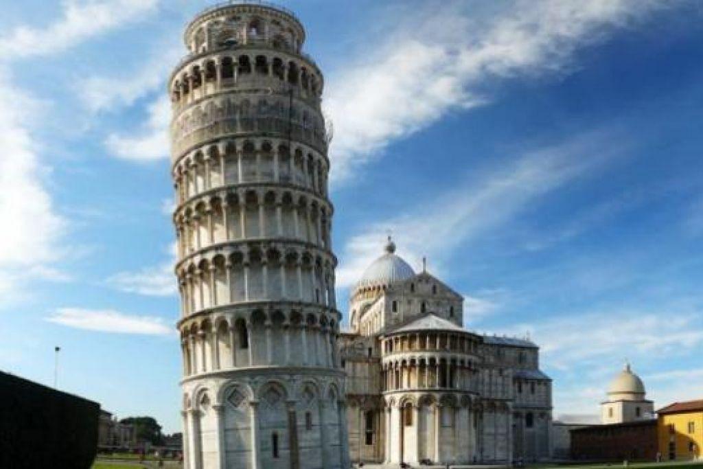 LEANING TOWER OF PISA: Di Italy, anda berpeluang melihat sendiri Menara Condong Pisa yang terkenal di seluruh dunia.