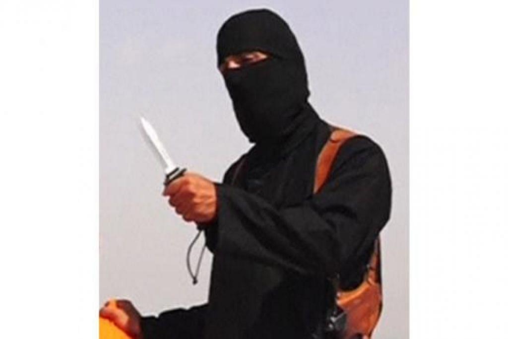 PEMENGGAL WARTAWAN AMERIKA: Menurut satu sumber, seorang penyanyi rap, seorang penggodam komputer dan seorang penganjur militan menjadi suspek pemenggalan kepala Encik James Foley. - Foto REUTERS TV