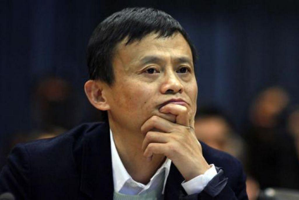 ENCIK JACK MA: Menjadi kaya dengan cepat hasil perniagaan yang memanfaatkan pertumbuhan kelas pertengahan di China. - Foto REUTERS