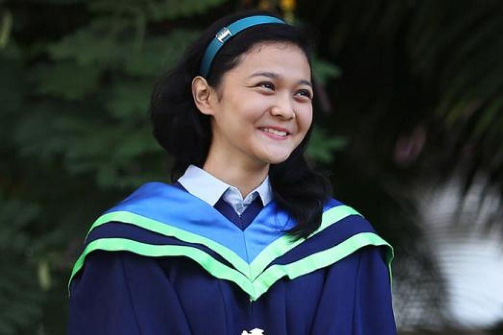 CIK FAUZIAH ALLY: Lulusan NTU ini kini bertugas sebagai pegawai penyelidikan di Institut Biologi Molekular dan Sel (IMCB). - Foto MCI