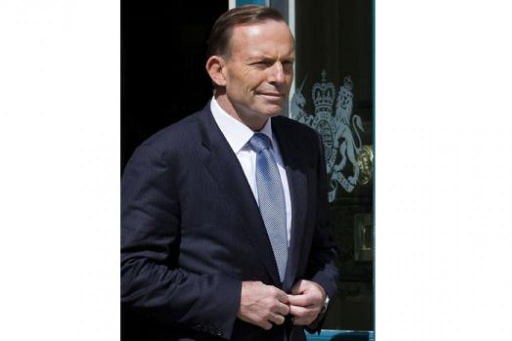 PM TONY ABBOTT: Tegaskan tidak akan menghantar askar.
