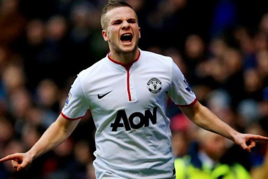 CLEVERLY: Pemain kedua yang muncul daripada akademi Manchester United, selepas Danny Welbeck, berpindah ke kelab lain. - Foto INTERNET