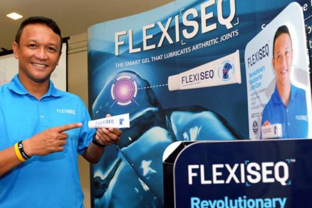 PASTI ADA PERBEZAAN: Duta jenama Flexiseq, Fandi Ahmad, telah mencuba sendiri krim Flexiseq dan mendakwa merasakan perbezaannya. - Foto TUKIMAN WARJI