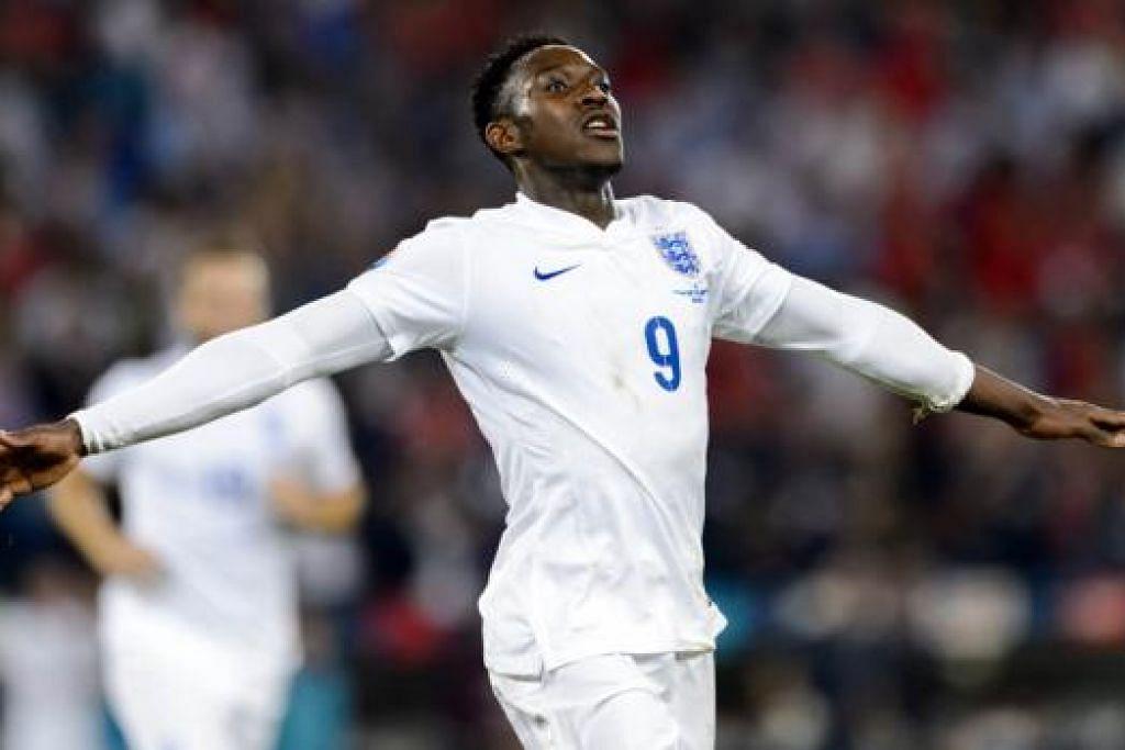 DORONGAN BARU: Penyerang England, Danny Welbeck, boleh diturunkan dalam kesebelasan utama Arsenal selepas menjaringkan dua gol untuk negaranya dalam kelayakan Euro 2016 awal minggu ini. - Foto AFP