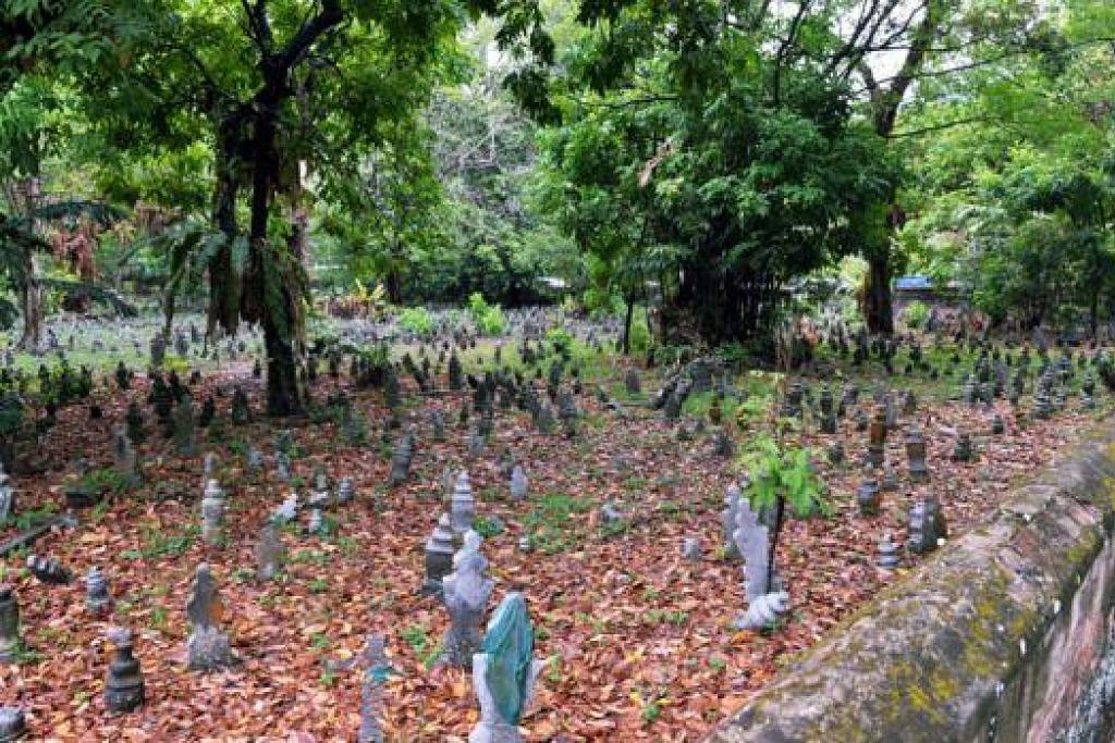 SEBAHAGIAN TAPAK PERKUBURAN: Menurut laporan abad ke-19 terdapat tiga tapak persemadian di Jalan Kubor – tanah perkuburan Melayu, tanah persemadian diraja dan tanah persemadian orang India Islam.