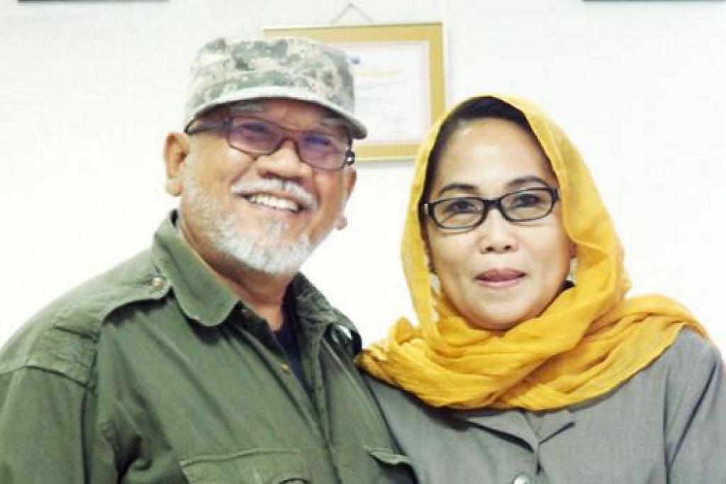 MASI MENYELAMI HATI NURANI MASING-MASING: Encik Andy Zulkifli bersama isterinya, Dr Fadilah Mallarangan.