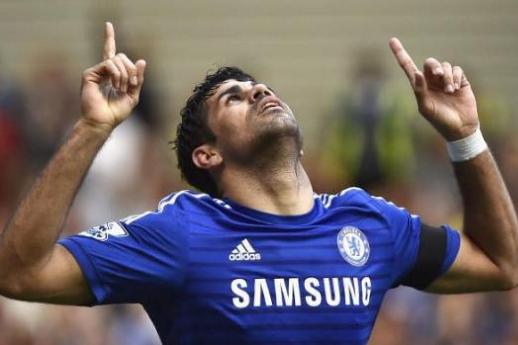 SENTUHAN HEBAT: Penyerang baru Chelsea, Diego Costa, kini sudah pun menyumbatkan tujuh gol selepas hanya empat perlawanan musim baru ini. - REUTERS
