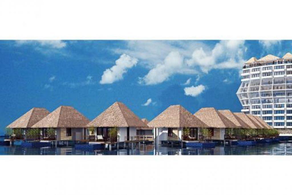 CUKUP HEBAT: Apabila siap kelak Marina View Resort & Spa ini bakal berhadapan dengan kawasan Marina Bay dan bertaraf lima bintang. - Foto NURADEE